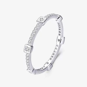 925 Silver Stackable Cubic Zirconia Band